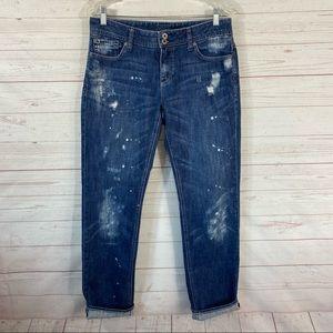 Express Bleach Splattered Boyfriend Jeans 30x32